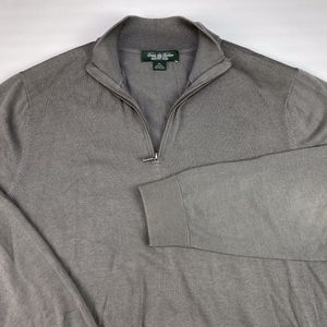 Brooks Brothers Country Club 1/4 Zip Sweater Sz XL